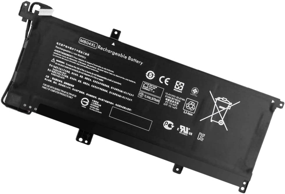 YNYNEW Replacement MB04XL Battery for HP Envy X360 15.4V 55.67Wh 15-AQ106NG 15-AQ173CL 15-AQ193MS 15-AQ004UR 15-AQ118CA 15-AQ210NR 15-AQ267CL TPN-W119 TPN-W120 843538-541 844204-850 MBO4XL HSTNN-UB6X