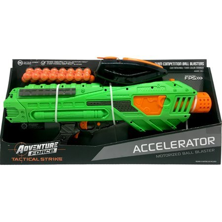 Pump up for an Action Packed and Super-Charged Match with Adventure Force Tactical Strike Accelerator Motorized Ball Blaster,Makes a Great Gift - Competition Accelerator