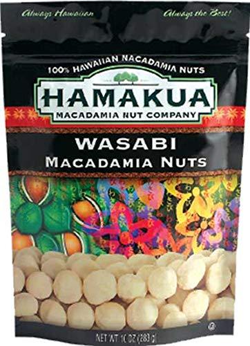 Hawaii Hamakua Plantations Macadamia Nuts Wasabi 10 oz. Bag