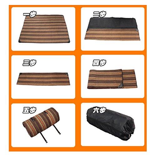 D&L Outdoor Canvas Picknickdecke,Wasserdicht Sanddichte Folding Wärmegedämmt Picknick-matte Mit Tragegriff Für 4-6 Personen Reisen, Wandern, Camping E