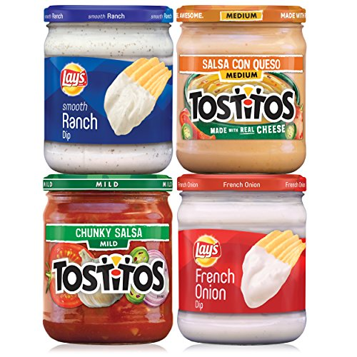 Lay's & Tostitos Party Salsa and Dips Variety Pack, 4 Count - Con Queso Dip Mix