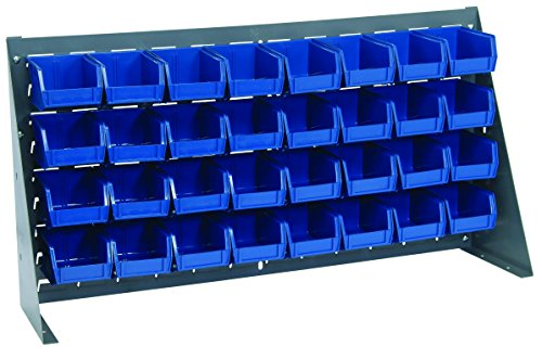 36 Ultra Bins - Quantum Storage Systems QBR-3619-210-32BL Ultra Bin Complete Bench Rack Package with 32 Ultra Bins, 36