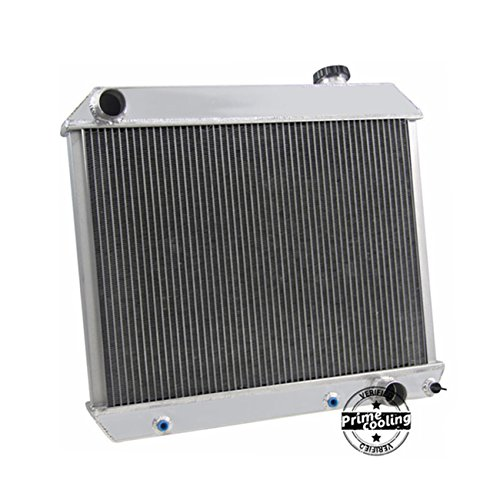 Primecooling 56MM 3 Row Core Aluminum Radiator for Chevy Pickup Trucks C10 C20 C30 K10 K20 Bonneville Multiple Modles 1961-1966