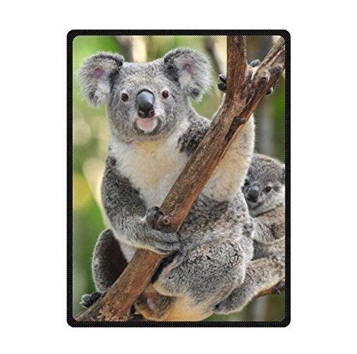 Custom Cute Design Koala Bear Hold The Tree Tightly Fleece Blankets Throws 50 x 60 Inch ( - Blanket Bear Travel