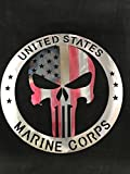 Marine Corps Punisher American Flag Sign home decor FREE SHIPPING Metal Art