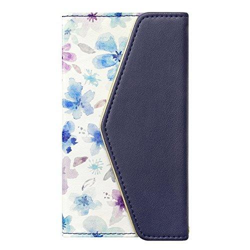 iPhoneX/XS Case, Flower Series Mirror case for iPhoneX iPhoneXS (Watery Blue