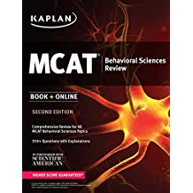 Kaplan MCAT Behavioral Sciences Review: Book + Online