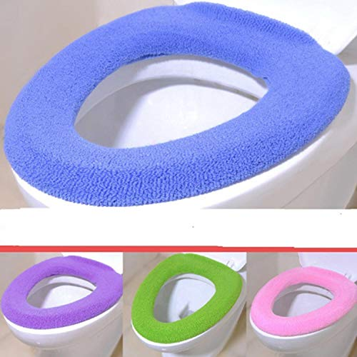 Suines New Bathroom Washable Warmer Soft Toilet Closestool Seat Cover Lid Mat Cushion Pad Toilet Seats(1Pc)