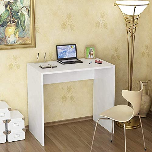PAK Furniture Sapphire Study Computer Home Office Student Desk 24 Inch, Space Saving Modern Simple Sturdy Workstation Gaming Writing Laptop PC Desks for Small Space, Easy to Assemble, White