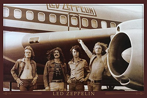 Led Zeppelin The Starship Airplane 36x24 Music Art Print Poster Wall Decor Classic - Super Drum Classic