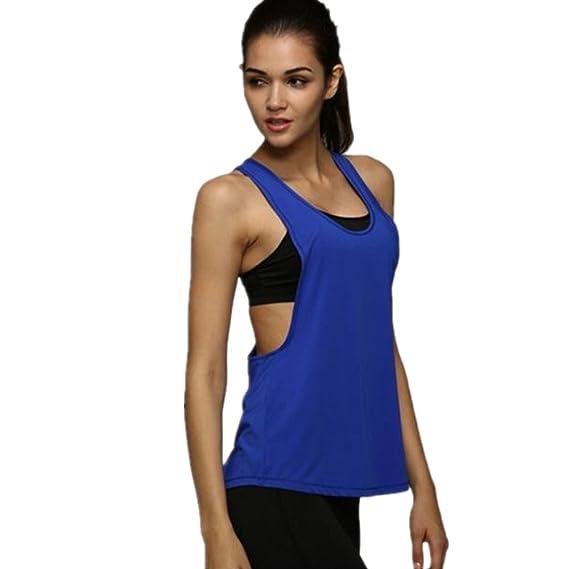 Sport tank tops HARRYSTORE Mujer camisetas deportivas sueltos y elásticos Mujer camisetas sin mangas deportivos mujer