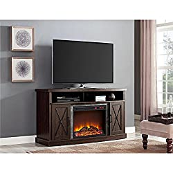 Altra Barrow Creek Electric Fireplace 60 in. Console - Espresso by Ameriwood Industries Inc