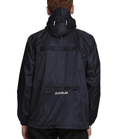 ffd608756 EZRUN Men's Waterproof Hooded Rain Jacket Windbreaker Lightweight Packable  Raincoat