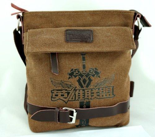 Guoqueen Cartoon Anime League of Legends Canvas Shoulder Bag Backpack Knapsack Messenger Bag Karazan