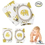 Baby Knee Pads, Tinabless Breathable Adjustable Elastic Unisex Infant Toddler Elbow Crawling Safety Protector, Indoor/Outdoor Use (2 pairs)