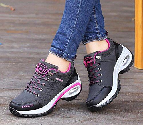 caminar escalar Senderismo correr Zapatos Air para Zapatos Confort para Negro para High mujer para Rise GFONE Zapatos x8pPqwS