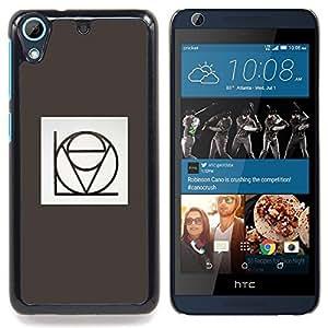 """For HTC Desire 626 Case , Honestidad intimidad Amor gris del cartel del texto"""" - Diseño Patrón Teléfono Caso Cubierta Case Bumper Duro Protección Case Cover Funda"""
