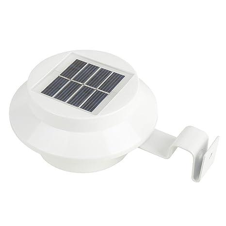TechCode LED Lámpara Solar Sensor Luz Solar Luz de Calle, Protección IP44 Protección Grado Puerta
