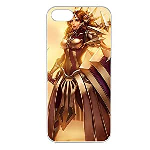 Leona-001 League of Legends LoL case cover for Apple iPhone 5/5S - Plastic White