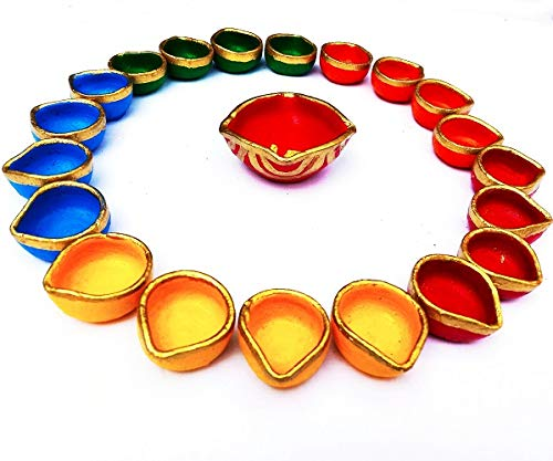 Decorative Colourful Designer Clay Diyas