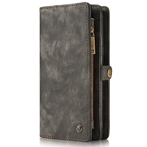 leather wallet phone detachable case for galaxy s8