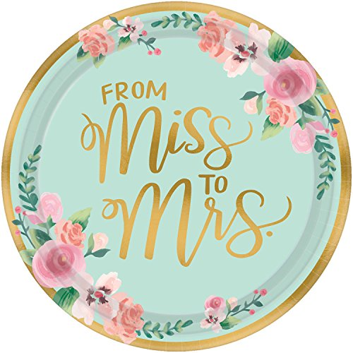 Amscan Mint to Be Wedding Banquet Plates (8 ct)