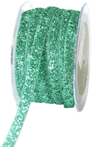 May Arts 3/8-Inch Wide Ribbon, Teal Metallic Velvet by May Arts