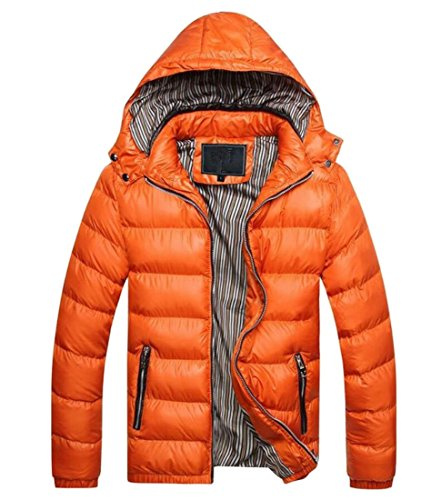 Loose amp;W 1 Outwear Quilted Thicken Men's M Jacket Jacket amp;S Hood 7tn5AvqxRH