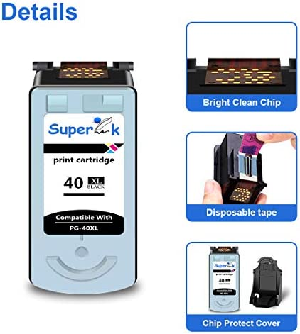 SuperInk 1 Pack High Yield Remanufactured Compatible for Canon CL41 CL-41 0617B002 Tri-Color Ink Cartridge use in PIXMA iP1600 iP1800 iP2600 MP160 MP180 MP210 MX300 MP450 MP460 MP470 JX200 Printer