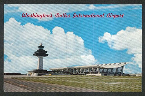 Dulles International Airport Washington DC postcard 1950s ()