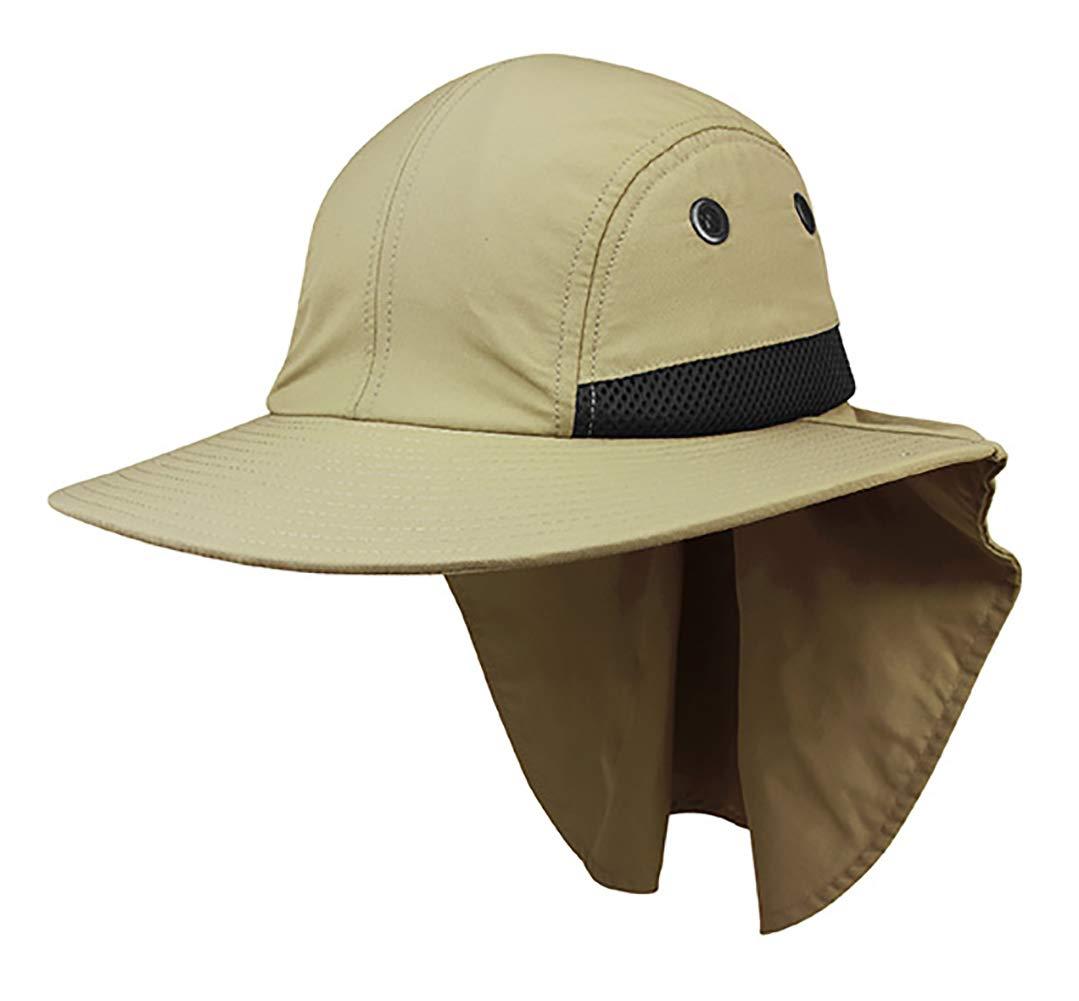 4 Panel Large Bill Flap Hat W15S48B (One Size Fits Most Khaki) fd734075ab21