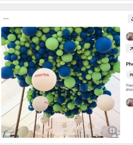 PartyWoo Blue Green Balloons, 70 Pcs 12 Inch Lime Balloons Limegreen Balloons Dark Blue Balloons White Balloons for Blue Party Decorations, Green Birthday Decorations, Blue Baby Shower Decorations]()