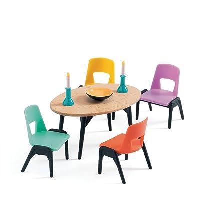 Amazoncom Petit Home Dollhouse Dining Room Imaginative Toys 2017