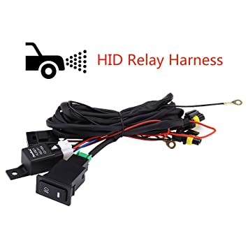 Amazon.com: HID Relay Harness,Beam Headlight Relay Wiring ... on