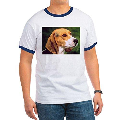 CafePress - Beagle - Ringer T-Shirt, 100% Cotton Ringed T-Shirt, Vintage (Beagle Pets Ringer)