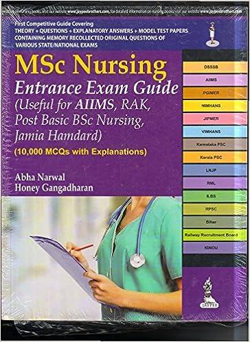 pdf book for msc nursing entrance