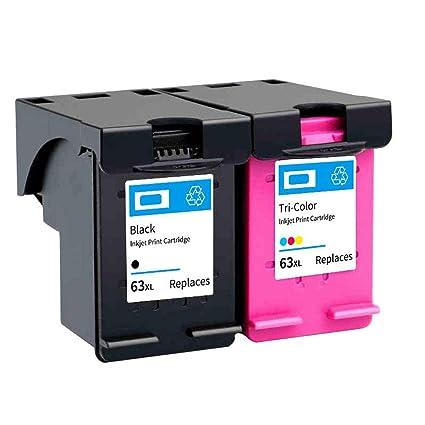 Cartucho de tinta 63XL con chip, para impresora HP Deskjet ...