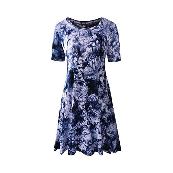 Kerrian Online Fashions 51gLmHwHWpL TINYHI Women's Swing Loose T-Shirt Fit Comfy Casual Flowy Cute Swing Tunic Dress