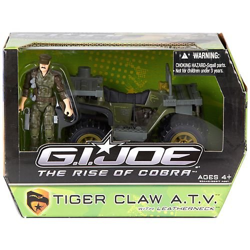 Claws Gi Joe (G.I. Joe The Rise of Cobra Alpha Vehicle Tiger Claw ATV with Leatherneck Action Figure)