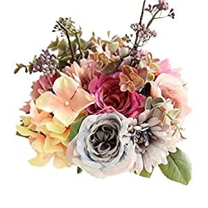 ENCOCO Wedding Bouquet Bride Bridal Bouquets Artificial Rose Flowers Fake Flowers for Home Garden Party Wedding Decoration 9
