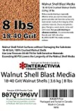 8 lbs or 3.6 kg Ground Walnut Shell Media 18-40