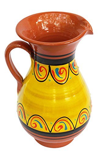 Terracotta Yellow, 2 Quart Pitcher - Hand Painted From Spain