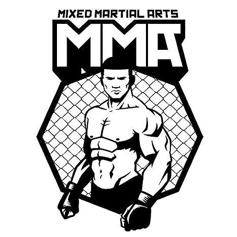 juntop Pegatinas de Pared de Vinilo MMA UFC Jaula Luchador Hombre ...