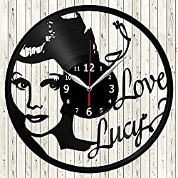 I Love Lucy Vinyl Art Record Wall Clock Decor Handmade Unique Design Original Gift