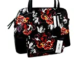 New Nine West Logo Purse Hand Bag Satchel Matching & Wallet 2 Piece Set Floral Red