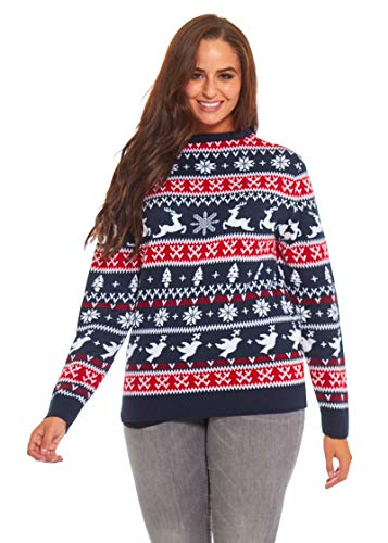 Unisex Men's Knit Christmas Ugly Sweater Classic Fair Isle Pullover - Feeling The Fair Isle, Large (Best Fair Isle Sweaters)