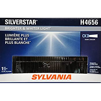 SYLVANIA - H4656 SilverStar Sealed Beam Headlight - High Performance Halogen Headlight Replacement (100x165), Brighter & Whiter Light for Added Clarity ...