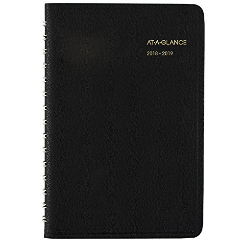 at-A-Glance 2018-2019 Academic Year Daily Appointment Book/Planner, Small, 4-7/8 x 8, Black (7080705)