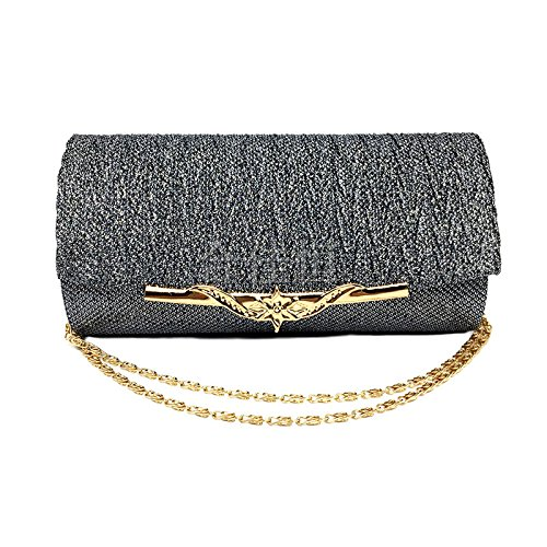 Glitter dark Ladies grey Women With Handbag Evening Handbags Wedding Bag Chain Bride Luxury Party GAOXIA Shiny 67fxqzz