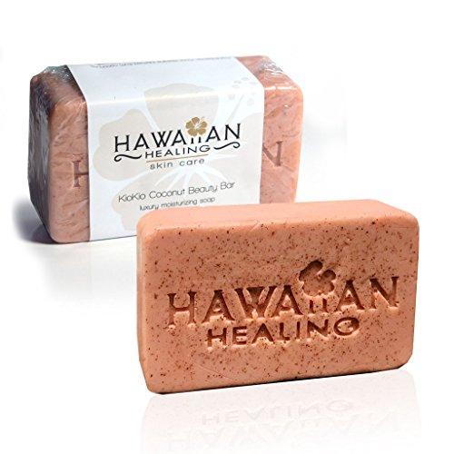 Hawaiian Healing Skin Care - Hand-Crafted & Moisturizing KioKio Coconut Beauty Bar Soap